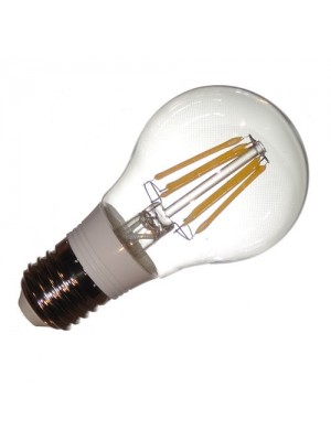 LED-E27, 230V, 6.2Watt, 600Lumen=50Watt, filament, warmweiss